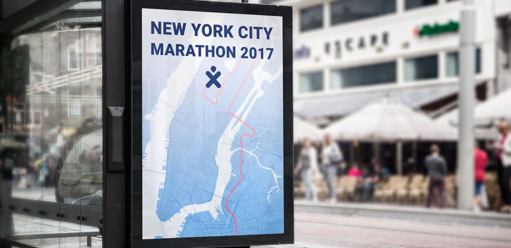 NYC Marathon + BetterPT bus stop sign