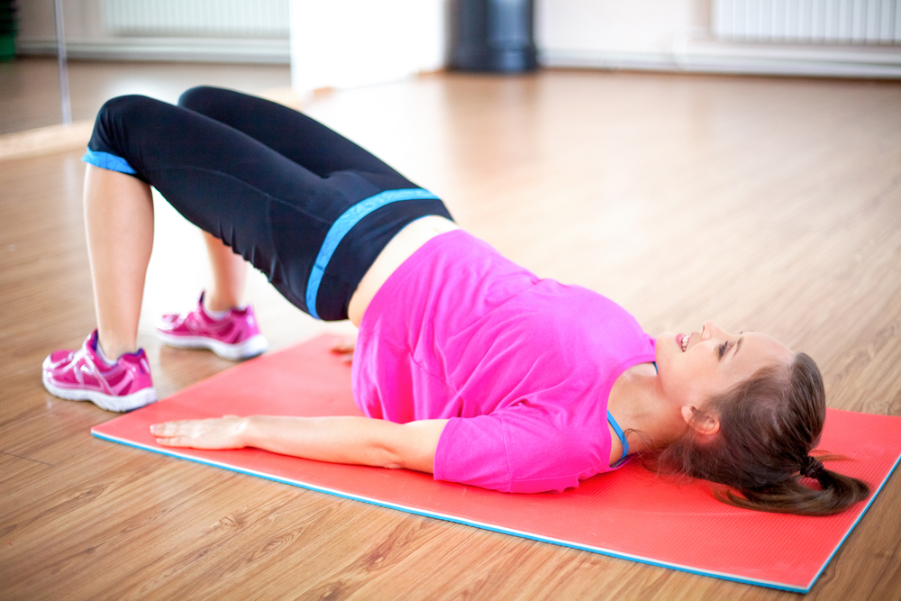 woman doing pelvic floor exercises