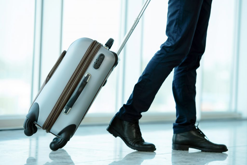 rolling suitcase - back support