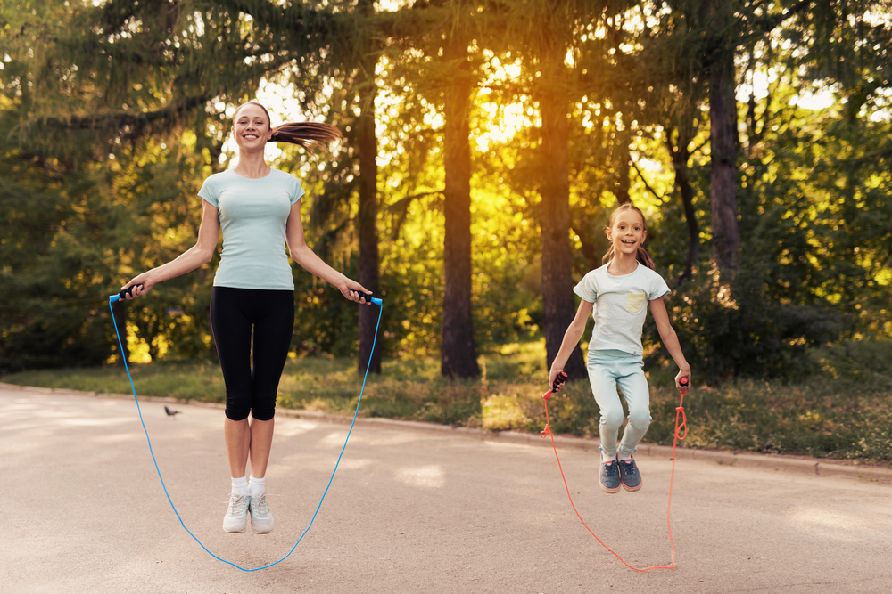 home exercise - jump rope