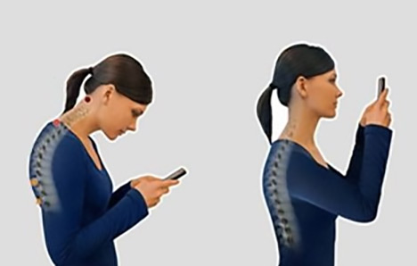 text neck - cell phone